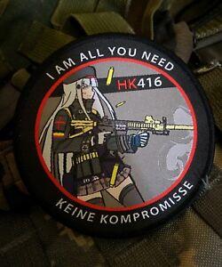 Girl's Frontline cosplay HK 416 GFL anime girl airsoft waifu morale milsim patch