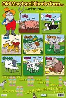 Old Macdonald Had a Farm Poster A2  / Sing along / Educational