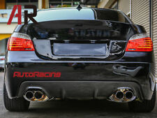 3D STYLE QUAD CARBON REAR DIFFUSER Lip BMW E60 E61 M TECH SPORT BUMPER ONLY