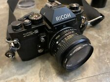 Ricoh Xr-2 Black 35mm Film Camera As With Accessories