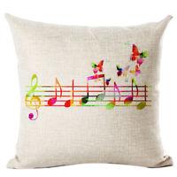1X(New flax Cushion Printed Pillow Home Decorative Couch Custom Pillowcase 9Z2)