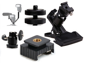 Flash Mount Hot Shoe Camera Tripod Flash Adapter Ball Head DSLR Bracket Mount UK