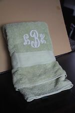 RALPH LAUREN TOWEL GREEN BATH TOWEL CLOTH WASHCLOTHS HAND AS IS