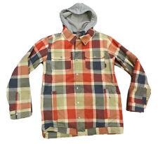 Burton Snowboard Men's Dryride Plaid Hooded Jacket Size Medium