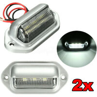 2x 6 LED Rear License Number Plate Light Lamp Boat UTE Truck Trailer Caravan 12V