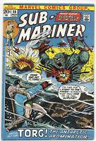 Sub-Mariner #55 1972 FN Marvel Comics Free Bag/Board