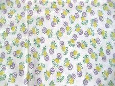"Vintage Cotton Fabric Feedsack Flowers Feed Sack, 36"" x 39.5"" Purple Flaw  #cc"