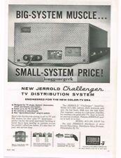 1963 Jerrold Model ACL-200 Challenger TV Distribution System Vtg Print Ad