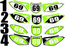 Number Plate Graphic for 2009-2011 Kawasaki KX450f KX 450f KXF Side Panels Decal