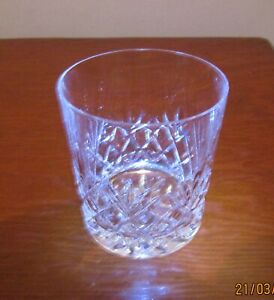 """Galway Crystal 'Oranmore' Double Old Fashioned Whisky Glass. Approx. 3.5"""" Tall"""