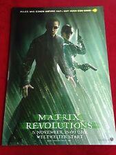 Matrix Revolutions Kinoplakat Poster  A1, Keanu Reeves, Lawrence Fishburn