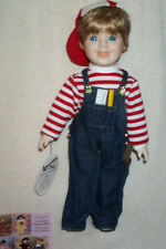 """Daddy's Little Helper 14"""" Porcelain Boy Doll Billy Heritage Mint,Box,Tag & Tools"""