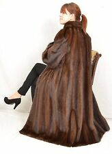 US713 Demi Mink Fur Coat Jacket Full Length manteau de vison Nerzmantel ca. XL