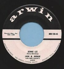 "Jan & Arnie - Arwin 108 ""JENNIE LEE / GOTTA GETTA DATE""(DOO WOP) 45 VINYL RECORD"