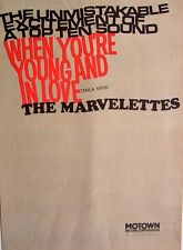 THE  MARVELETTES 1967 POSTER ADVERT WHEN YOU'RE YOUNG AND IN LOVE motown