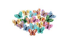 10 x 45mm-, fabric butterfly motifs, crafts, sewing, needlework,
