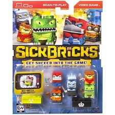Sick Bricks 5 Character Pack Mutants Vs Robots Set Scan-to-Play Video Game App
