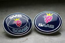"""2.0"""" 50mm Blue Front Hood Emblem Badge Decal For SAAB 9000, 900 9-3"""