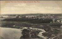 Buzzards Bay Cape Cod MA West From RR Bridge c1910 Postcard