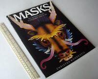 Masks Press-Out Model Book - Tutankhamun Medusa Minotaur Gargoyle Vintage 1987