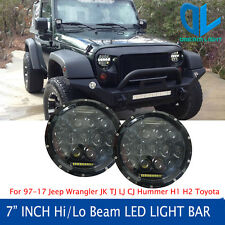 Firebug 2 X 7'' Round LED Projector  Headlight Lamp with DRL for 07-16 Jeep JK