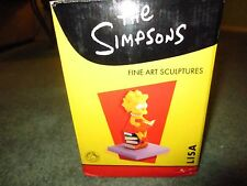 SIMPSONS FOOTPRINTS SCULPTURE: LISA STANDS ALONE RARE W/COA