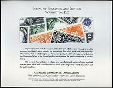 BUREAU OF PRINTNING & ENGRAVING ANA ST. LOUIS  1970   SHOW CARD MINT #B7