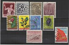 Yougoslavie  1958-59 10 timbres oblitérés /T2123