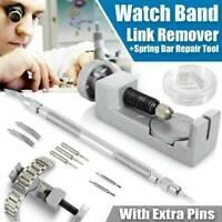 1Set Metal Adjustable Watch Band Strap Bracelet Link Pin Remover Repair Tool Kit