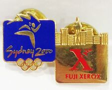 FUJI XEROX CITYSCAPE LOGO GOLD SYDNEY OLYMPIC GAMES 2000 PIN BADGE COLLECT #709