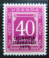 Uganda 1973 40c le spese di spedizione dovuti senza trattini smaltata d16 NUOVO prezzo più basso bn1103