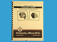 Fairbanks Morse Magneto Instruct & Parts Manual for FM, FM-H, FMO, & FM-OH  *430