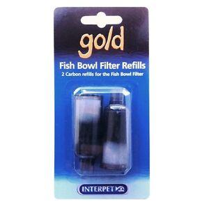 INTERPET GOLD GOLDFISH BOWL FILTER REFILLS CARTRIDGE 2 CARBON REFILLS 0621 NEW