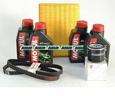 DUCATI MONSTER 620 IE KIT TAGLIANDO FILTRO + MOTUL 7100 20W50 + CINGHIE ORIGIN.