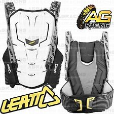 Leatt Adult Adventure Back Protector Back Body Armour Spine White S/M Enduro