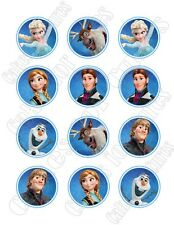 Frozen edible party cupcake toppers decoration frosting toppers 12/sheet