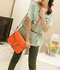 orange Fashion Women's PU Shoulder Bag Satchel Handbag Tote Purse Hobo Messenger