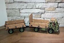 Schleich Safari LKW Lastwagen Unimog mit Anhänger und Fahrer