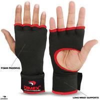Boxing Inner Long Hand Wraps Gloves Fist Padded Bandages MMA Thai BLACK