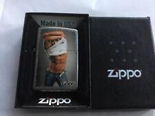 ZIPPO LIGHTER 2011 RIPPED T-SHIRT HUNK