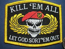 PATCH MILITARY MORALE KILL EM ALL - LET GOD SORT EM OUT SEW ON CLOSEOUT SALE!