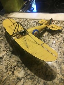 VINTAGE METAL AIRPLANE MODEL British WW I BRISTOL M1C Shuttleworth Bullet