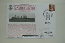 HOCKADAY COVER SERIES 1 No 9 RFA FORT GEORGE - SIGNED CPT. SQUIRE, CDRE. THORN