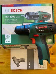 "Bosch Akku Bohrschrauber PSR 1200 LI-2 Akkuschrauber ""SOLO"" OHNE Akku &Lader-TOP"