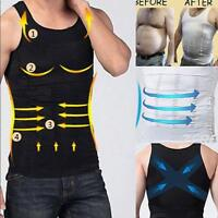 Men Slimming Shirt Body Shaper Vest Abdomen Compression Tank Corset Weight Loss