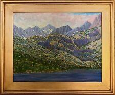 Lake Sabrina High Sierra Impressionist Oil Painting by M. Diederichsen - framed