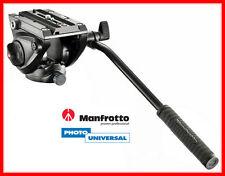 MANFROTTO FLUID VIDEO KOPF MVH500AH / MVH 500 AH MIT FLACHER BASIS NEU
