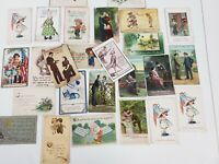 VINTAGE GREETING CARD LOT 26 VALENTINE-EASTER-HOLIDAY-POST 1910s+ Unposted