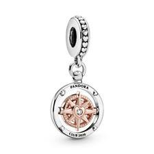 Pandora ROSE Charm 788590C01 Club 2020 Compass Dangle S925 ALE R