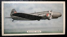 Boeing 247D   Airliner  Original Vintage Card